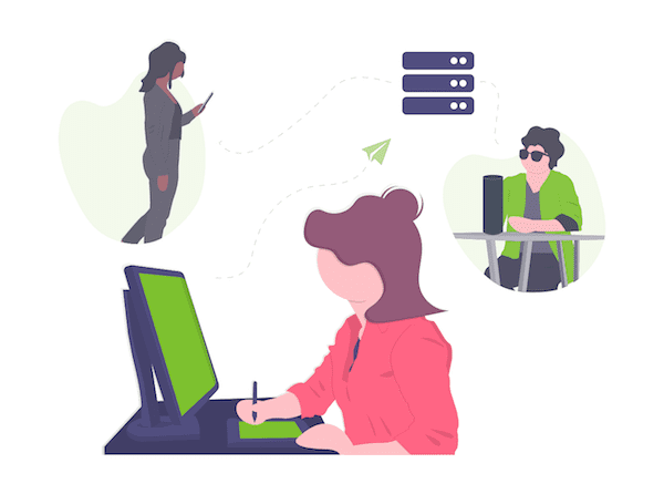 coworking software integrations illustration