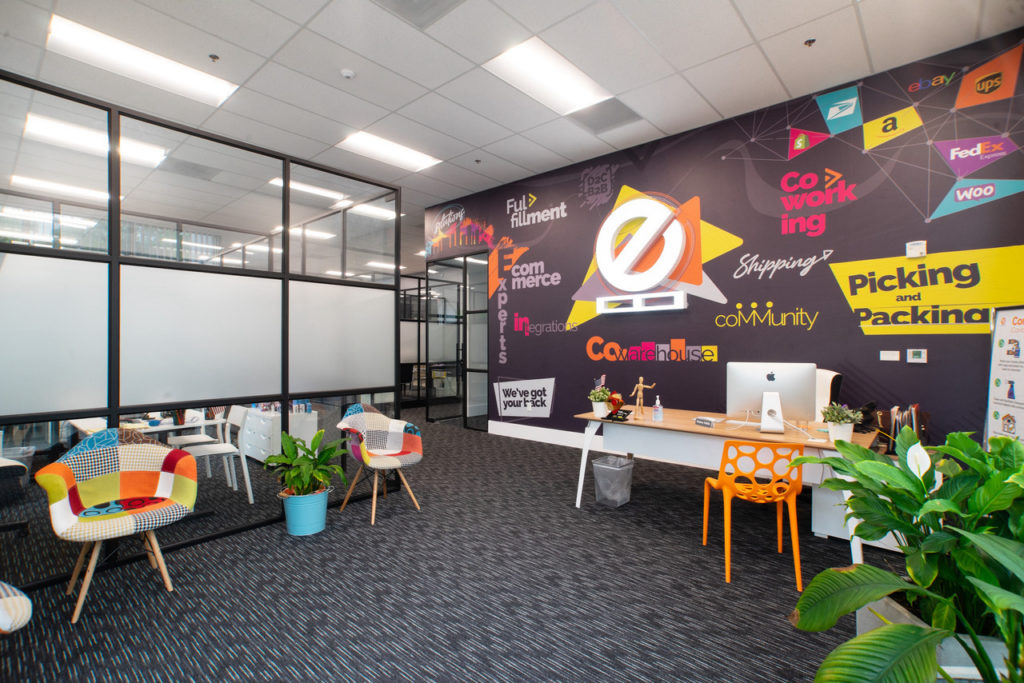 Coworking Meets E-commerce: Palletized open coworking space