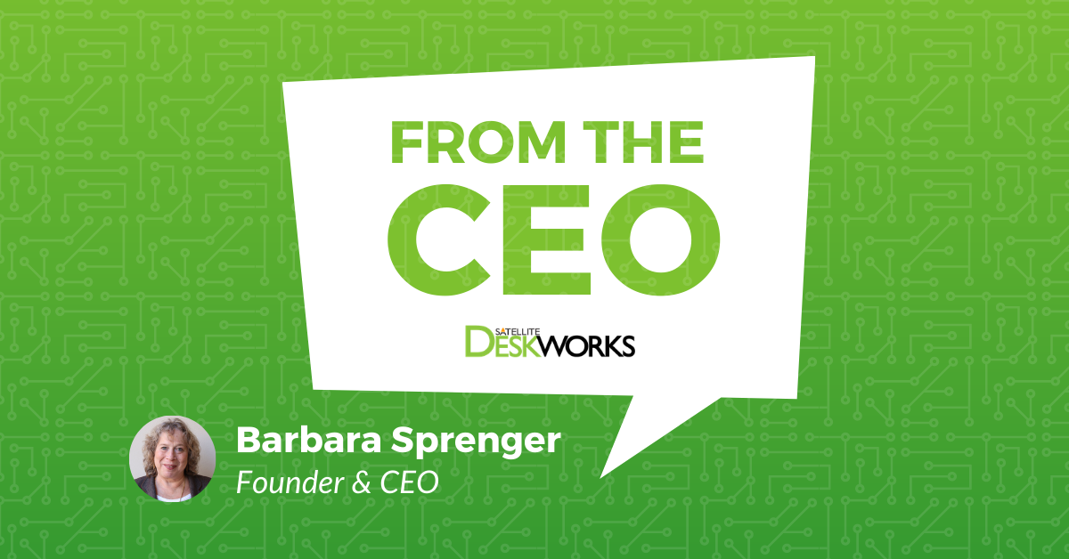 Note from the CEO, Barbara Sprenger